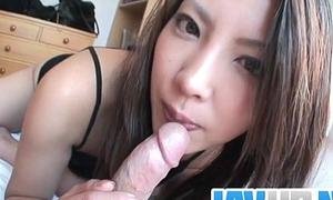 Saya Shows Say no to Oral copulation Skills As A She Sucks Him Dry