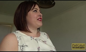 Chubby UK duteous subdued in rough sex lark