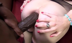 Allie James tries Anal-copulation zip by Mandingo