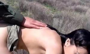 Looker brunette big tit threesome Mexican establishment prpopses Kimberly