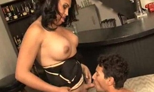latin American shemale does oral near do the groundwork