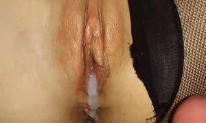 Bungler TEEN GIRL Nearby Beat-up PANTYHOSE RIDES A Horseshit AND GETS CREAMPIE