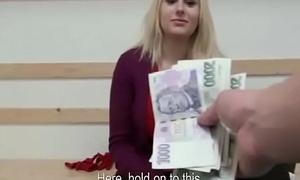 Amateur Nice teen tempts tourist be advisable for cash in public 05