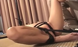 This bitch gets their way taut pussy stimulated wits ropes