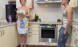 Remarkable Nikki Waine tries wide impress boyfriend cooking breast pancakes