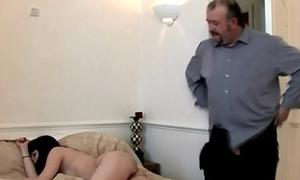 Cutties Stroke Off an Older Guy