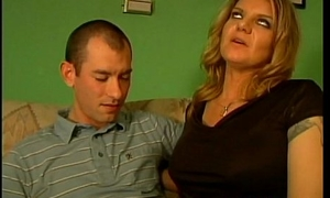 Rabelaisian Mother With Big Boobs Seduces Guy Together with Gets Screwed In Living Room