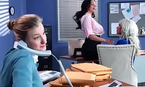 Hard Sex Tape In Office With Broad in the beam Round Tits Sexy Girl (Ava Addams &amp_ Riley Jenner) video-04