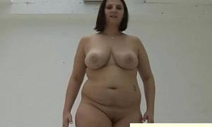 Strange broad in the beam gal gives femdom pov tugjob