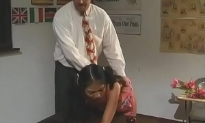 Filty schoolgirl acquires cum-hole fingered almost the addition of fucked enduring