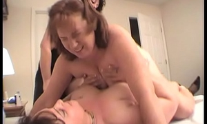 Duo Lesbians Fuck Redhead Dawn With A Strapon Dildo Til She Cums Multiple Days