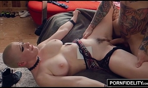 PORNFIDELITY Riley Nixon Worships Cock and Receives Covered down Cum