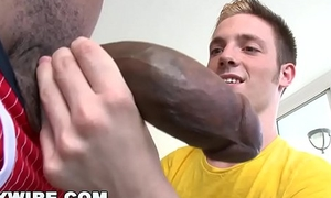 GAYWIRE - Twink Jesse Jordin Gets His Tight Ass WRECKED By Castro Supreme'_s Big Black Dig up