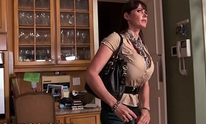 BANGBROS - MILF Stepmom Eva Karera Catches Teen Holly Hudson with Steady old-fashioned