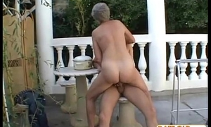 Aged grandma sucks dick and fucks option dick